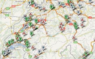 carte radars en suisse